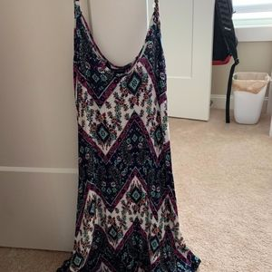 Floral and chevron patterned dress
